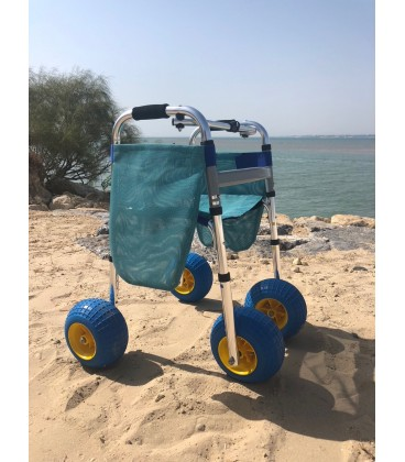 The Rollator Country walker is for uneven terrain