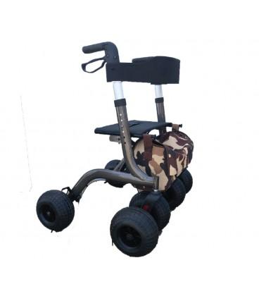 Novaf Rollator off-road 6x6. Andador para todo tipo de terrenos