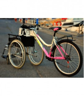 Kit adapts more bicycle to adapt your wheelchair