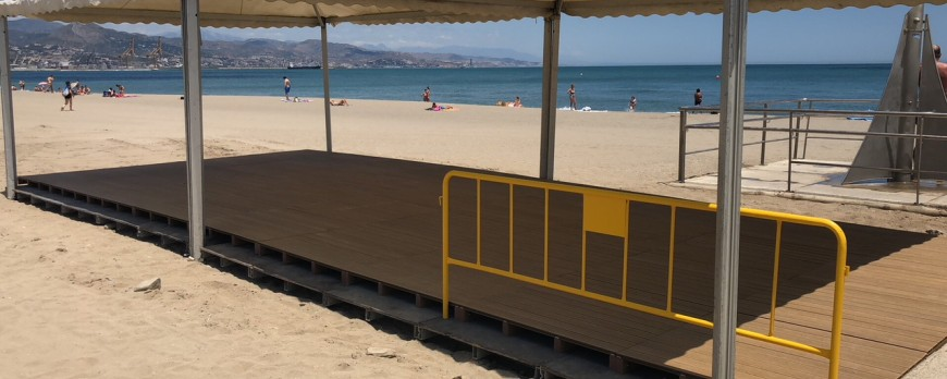 "The beaches of ""El Dedo"" and ""La Misericordia"", adapted for the disabled (Spain)"