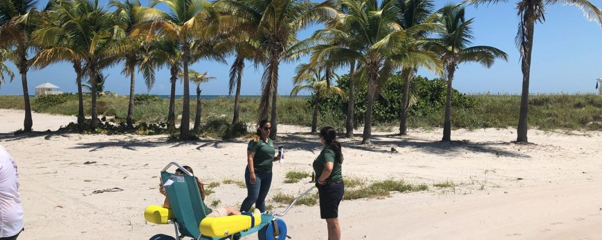 Testing our equipment with the Ocean Rescue Department in Miami Beach